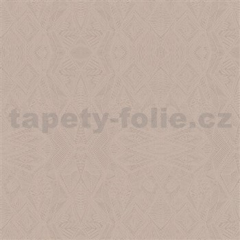 Vliesové tapety na zeď Belinda geometrické ornamenty hnědé