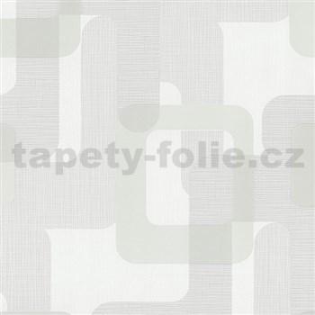 Vliesové tapety na zeď Novara moderní čtverce bílo béžové MEGA SLEVA