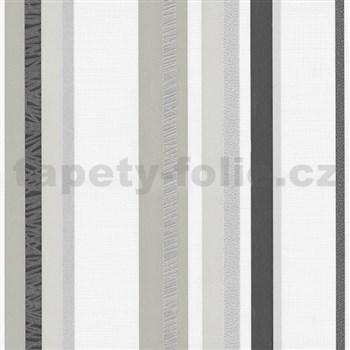 Vliesové tapety na zeď Novara pruhy šedé