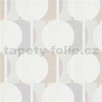 Vliesové tapety na zeď IMPOL Novara 3 korálkový vzor vzor šedo-béžový s třpytkami