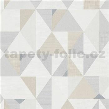 Vliesové tapety na zeď IMPOL Novara 3 geometrický vzor hnědo-béžový