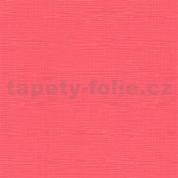 Vliesové tapety na zeď IMPOL Novara 3 strukturované jednobarevné melounově červené