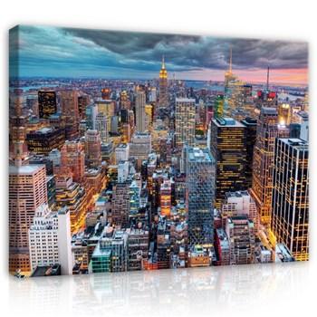 Obraz na plátně New York v bouřce 78 x 120 cm