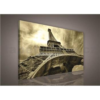 Obraz na plátně Eiffelova věž v sépia 75 x 100 cm