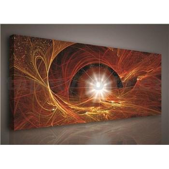 Obraz na plátně hvězdné nebe 145 x 45 cm
