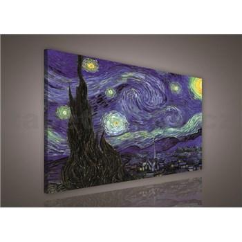 Obraz na plátně Vincent van Gogh Hvězdná noc 75 x 100 cm