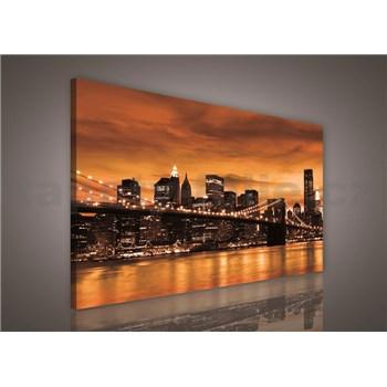 Obraz na plátně Brooklyn Bridge 75 x 100 cm