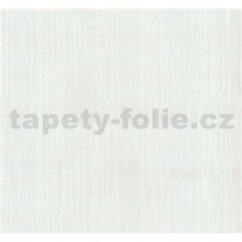 Vliesové tapety na zeď Opal žíhané pruhy bílé s jemným třpytem