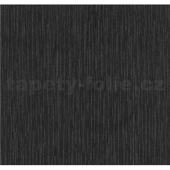 Vliesové tapety na zeď Opal struktura černá s jemným třpytem