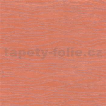 Vliesové tapety na zeď Opulence vlnovky oranžové