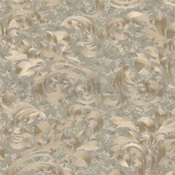 Vliesové tapety na zeď Opulence rostlinný vzor hnědý