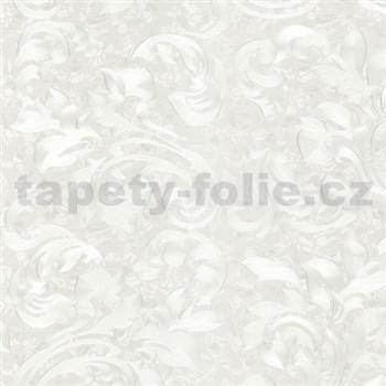 Vliesové tapety na zeď Opulence rostlinný vzor bílý