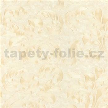 Vliesové tapety na zeď Opulence rostlinný vzor béžový