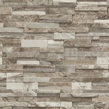 Vliesové tapety na zeď Origin - kámen pískovec světle hnědý