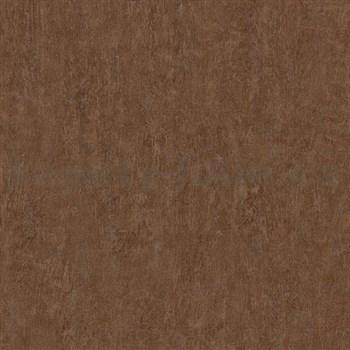 Vliesové tapety na zeď Origin - jednobarevná kovový vzhled hnědo-červený