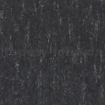 Vliesové tapety na zeď Origin - jednobarevná kovový vzhled šedo-stříbrný