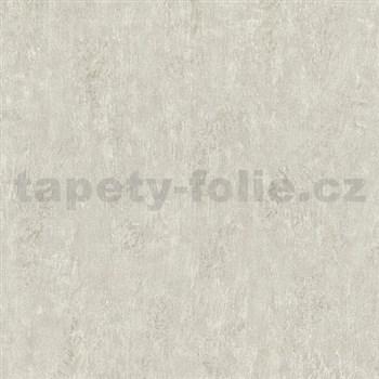 Vliesové tapety na zeď Origin - jednobarevná kovový vzhled krémový