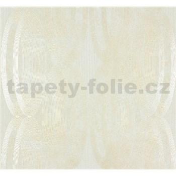 Vliesové tapety na zeď Ornamental Home - elipsy perleťově bílé