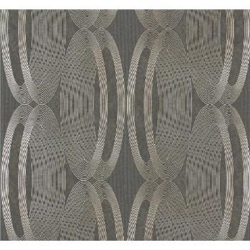Vliesové tapety na zeď Ornamental Home - elipsy zlaté-SLEVA