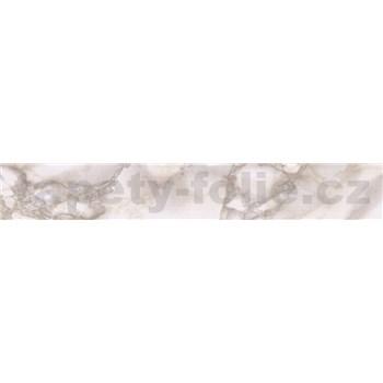 Samolepící ukončovací pásky mramor béžový Carara 1,8 cm x 5 m