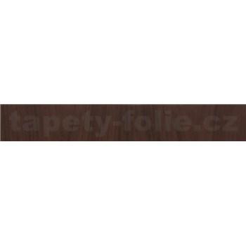Samolepící ukončovací pásky dřevo vlašského ořechu tmavé 1,8 cm x 5 m