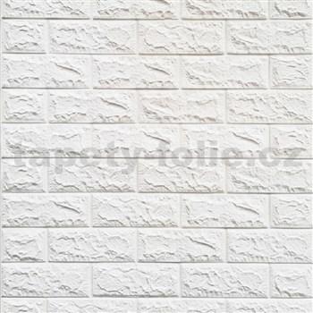 Samolepící pěnové 3D panely rozměr 70 x 77 cm, cihla bílá