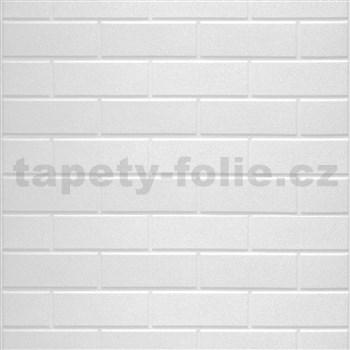 Samolepící pěnové 3D panely rozměr 70 x 77 cm, klasické cihly bílé