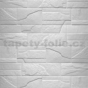 Samolepící pěnové 3D panely rozměr 760 x 680 mm, kámen bílý