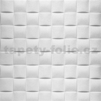 Samolepící pěnové 3D panely rozměr 695 x 695 mm, 3D plaid bílý