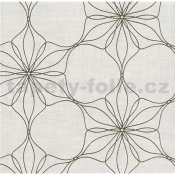 Vliesové tapety na zeď Polar květy hnědé