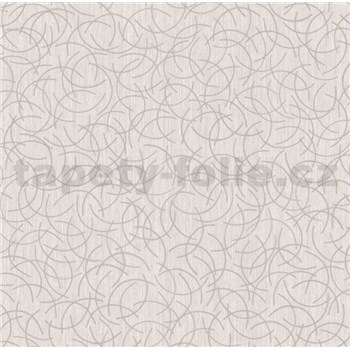Vliesové tapety na zeď Polar curls šedý se stříbrným vzorem