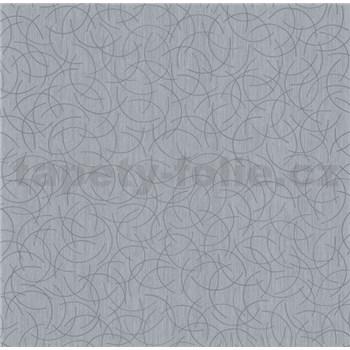 Vliesové tapety na zeď Polar curls tmavě šedý se stříbrným vzorem