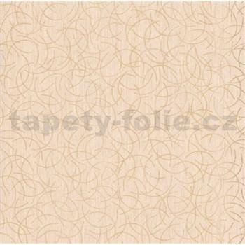 Vliesové tapety na zeď Polar curls béžový se zlatým vzorem