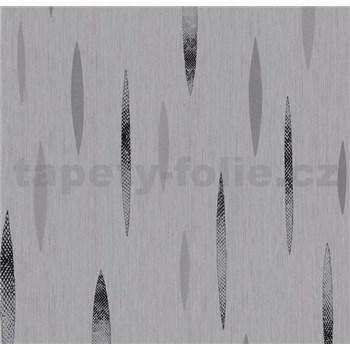Vliesové tapety na zeď Polar abstrakt tmavě šedý, černý, stříbrný
