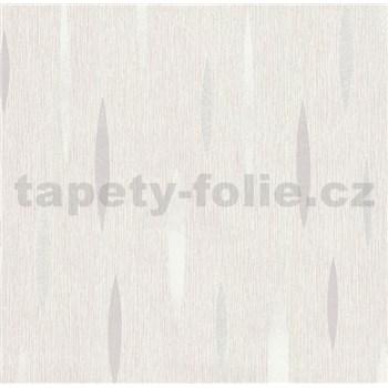 Vliesové tapety na zeď Polar abstrakt světle šedý, bílý, stříbrný
