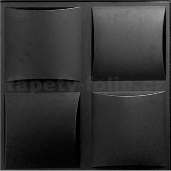 3D panel XPS PLAID černý rozměr 50 x 50 cm