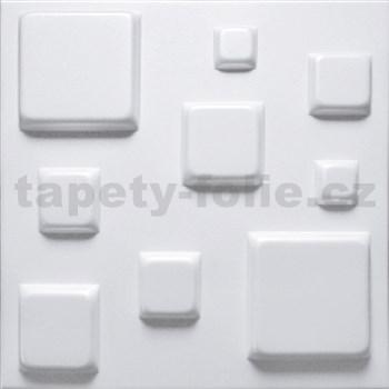 3D panel XPS BLOCKS bílý rozměr 50 x 50 cm