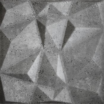 3D panel XPS DIAMANT BETON tmavě šedý 50 x 50 cm