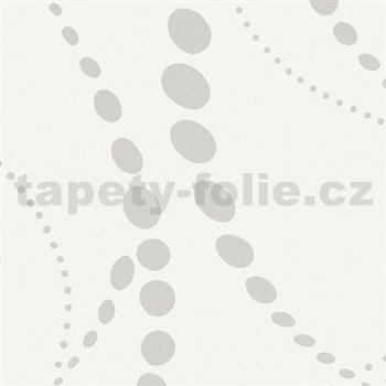Vliesové tapety WohnSinn Primeur kolečka bílé