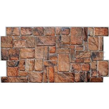 Obkladové 3D PVC panely rozměr 980 x 498 mm ukládaný kámen přírodní