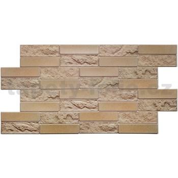 Obkladové 3D PVC panely rozměr 955 x 490 mm pískovcový kámen hnědý