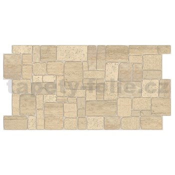 Obkladové 3D PVC panely rozměr 980 x 498 mm ukládaný kámen béžový