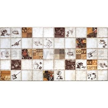 Obkladové 3D PVC panely rozměr 964 x 484 mm káva