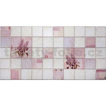 Obkladové 3D PVC panely rozměr 964 x 484 mm květy šeříků