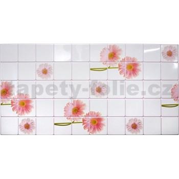 Obkladové 3D PVC panely rozměr 955 x 480 mm květy gerbery