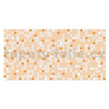 Obkladové 3D PVC panely rozměr 955 x 480 mm mozaika oranžová