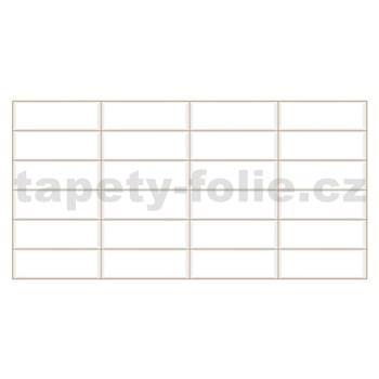 Obkladové 3D PVC panely rozměr 955 x 480 mm obklad bílý, béžová spára