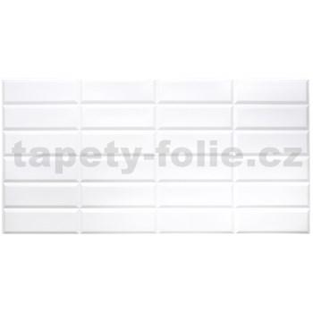 Obkladové 3D PVC panely rozměr 955 x 480 mm obklad bílý Metrostyle
