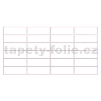 Obkladové 3D PVC panely rozměr 955 x 480 mm bílý obklad, růžová spára