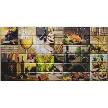 Obkladové 3D PVC panely rozměr 960 x 480 mm víno obklad
